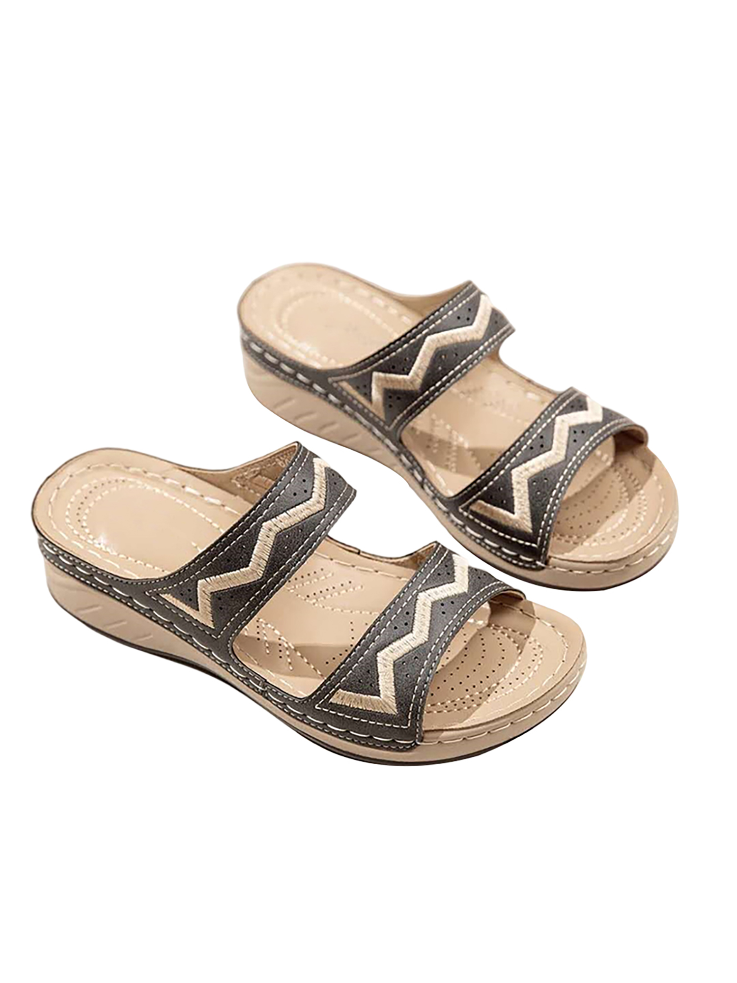 Womens Summer Mules Sliders Slip On Sandals Ladies Open Toe Comfy Shoes Size