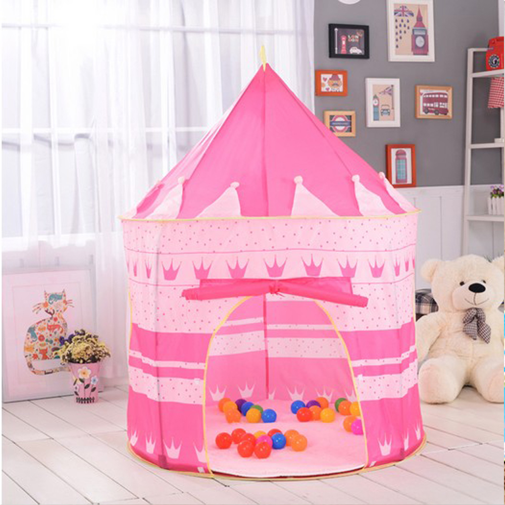 Zimtown Princess Castle Play House Large Indoor Outdoor Kids Play Tent for Girls Pink