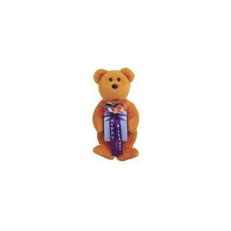 Mini Beanie Baby (TY Beanie Baby Mini - HAPPY BIRTHDAY the Bear ( Brown - w/ Present ) (5.5)