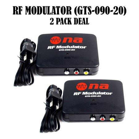 RF Modulator Universal AV Audio Video Signal Input Output Converter TV 2