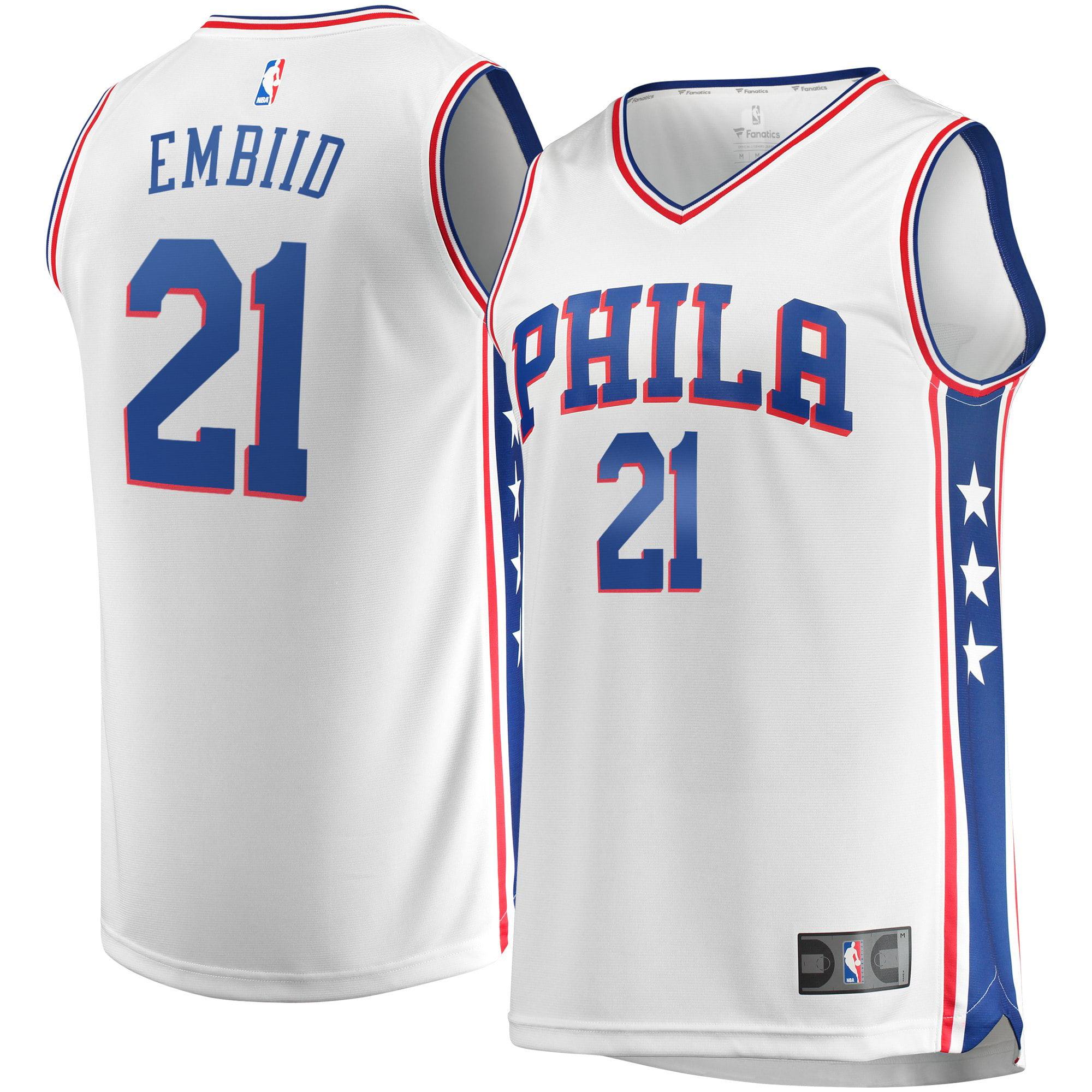 Joel Embiid Philadelphia 76ers Fanatics Branded Youth Fast Break Replica Player Jersey - Association Edition - White