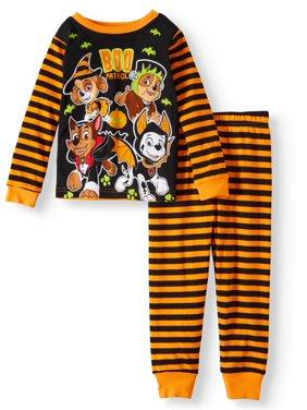 Toddler Boys' Halloween Glow-in-the-Dark Cotton Tight Fit Pajamas, 2-Piece Set