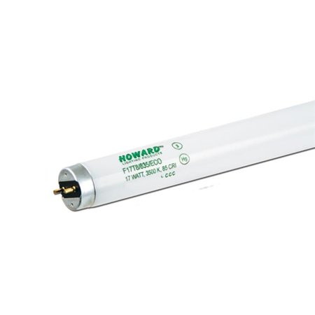 Actinic T8 Fluorescent Lamp - Howard Lighting Products F28T8-850-ES-ECO-LL 28W 4- Foot T8 Med Bi-Pin Fluorescent Lamp 5000K Case of 25