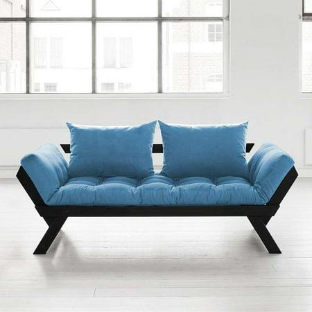 Fresh Futon Bebop Black Convertible Futon Sofa