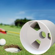 MIARHB Plastic Backyard Practice Golf Hole Pole Cup Flag Stick Putting Green Flagstick