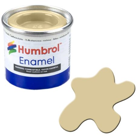 Humbrol Model Enamel Paint No.121 Matt Pale Stone, AA1331, Fast dry paint developed for use on plastic model kits but which can also be used on other.., By AB