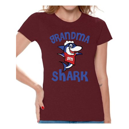 Awkward Styles Grandma Shark Tshirt Shark Family Shirt for Women Shark Gifts for Her Matching Shark Tshirts for Family Shark Themed Party Outfit Shark Gifts for - Great Gatsby Themed Outfits