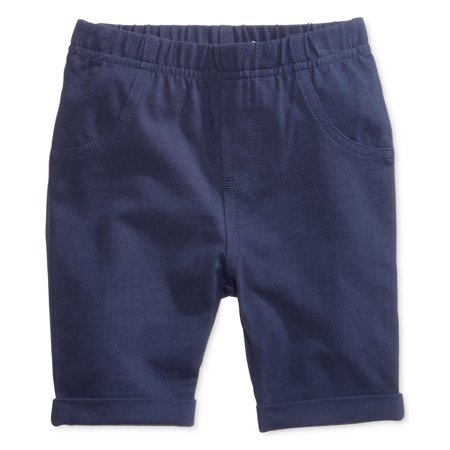- First Impressions Baby Unisex Flat Front Walking Shorts (3-6 Months, Blue)