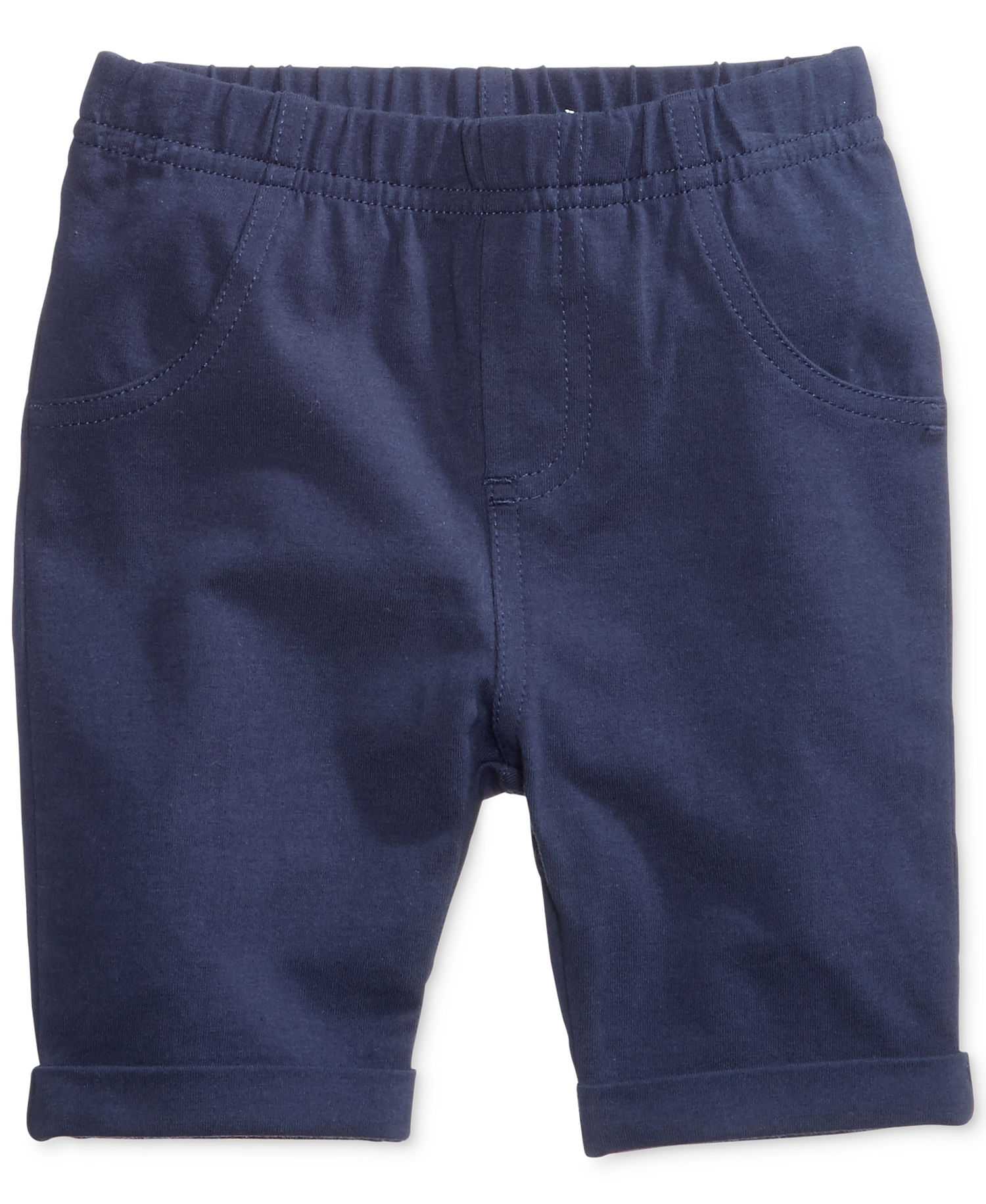 First Impressions Baby Unisex Flat Front Walking Shorts (3-6 Months, Blue)