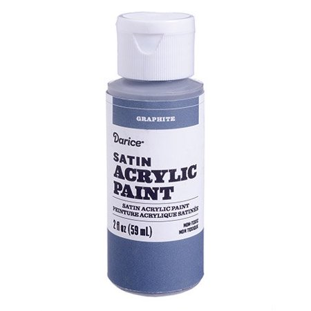 Create stunning shadows with this graphite satin acrylic paint. It works on paper, canvas, and wood for versatile use in your