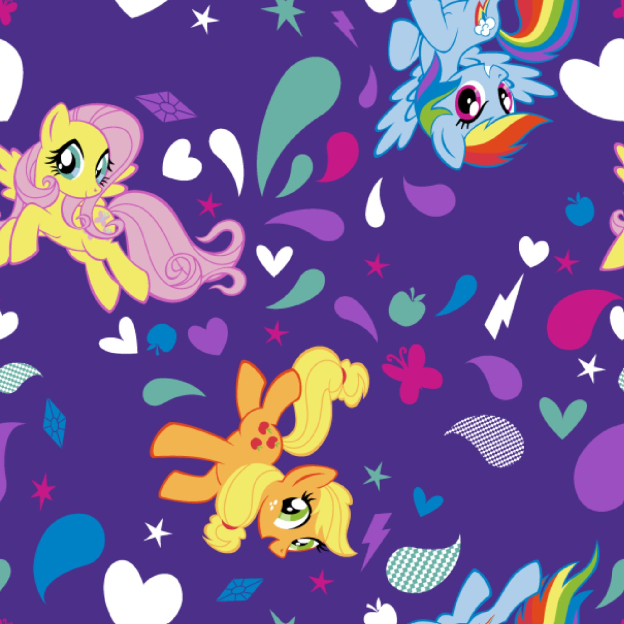 - Hasbro My Little Pony Ponies With Icons Fabric - Walmart.com