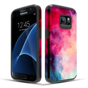 Galaxy S7 Case, Slim Fit Dual Layer Shockproof Case for Samsung Galaxy S7 - Paint Clouds