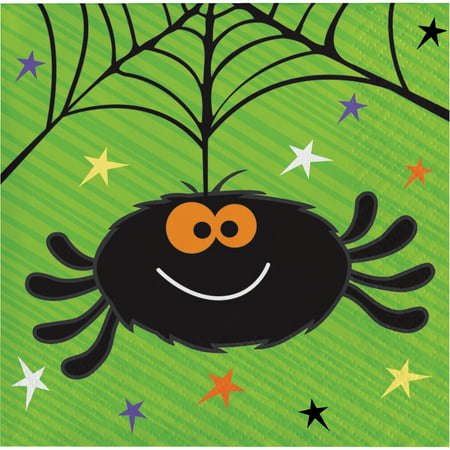 Happy Haunts Halloween Beverage Napkins, 16 pack - Happy Halloween Hairstyle