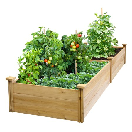 Best Choice Products Wooden Raised Garden Bed- (Best Wood For Raised Vegetable Garden)