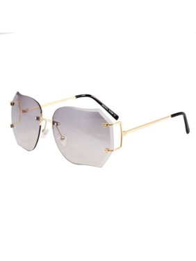 ea6ca2f9f3 Product Image Sunglasses Women Diamond Cut Rimless Fashion Eye Wear Shades  Clear Shades