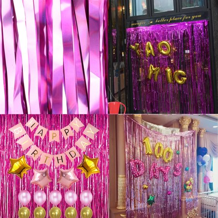 2m*1m Metallic Fringe,Door Window Curtain Photo Booth Props,Foil Tinsel- Perfect For Birthday & Wedding & Christmas & New Years Eve Party - Christmas Photo Booth Ideas