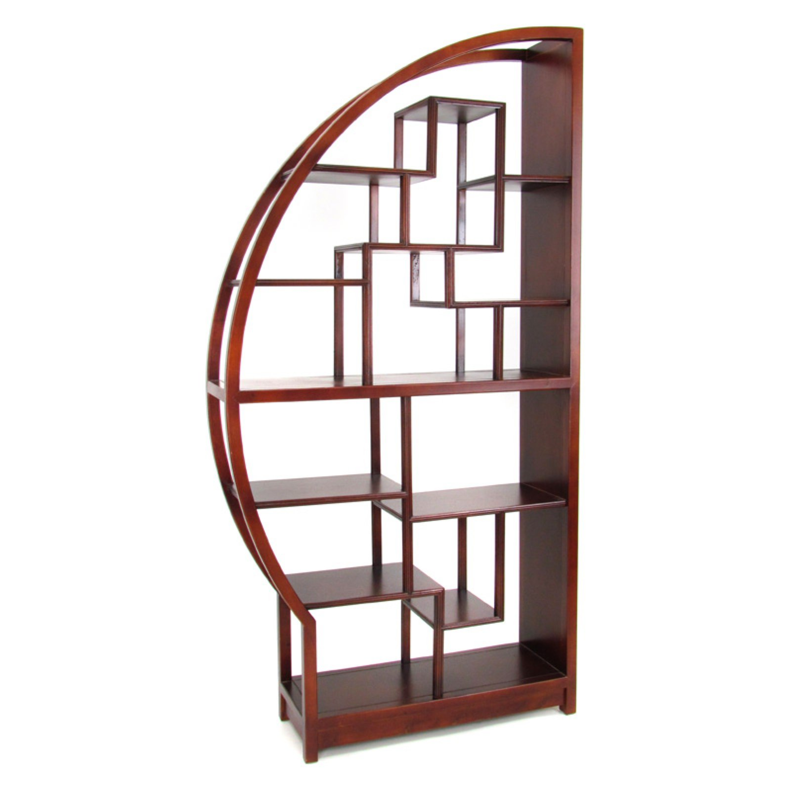 Wayborn Etagere Half Moon Display Bookcase Room Divider