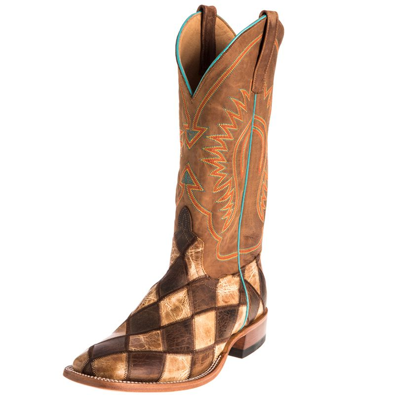 Anderson Bean Boys Kid s Crazy Train Patchwork Cowboy Boots 9 Little Kid Honey