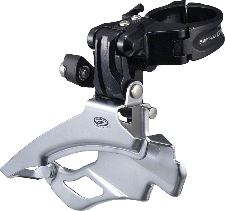 Shimano Deore M591 9-Speed Triple Down-Swing Dual-Pull Front Derailleur