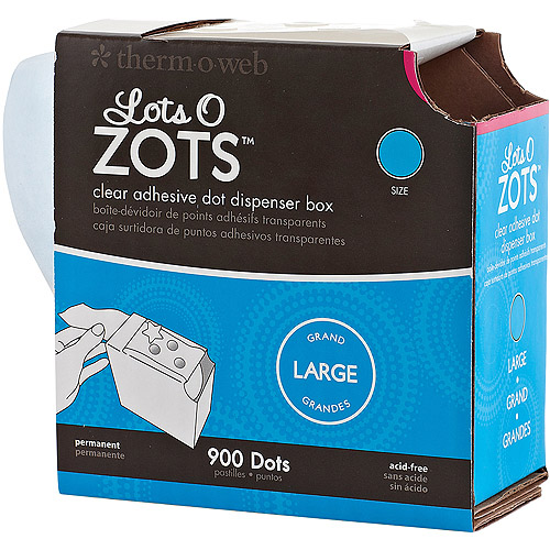 """Zots Lots of Dots Clear Adhesive Dots, Large, 1/2"""", 900pc"""