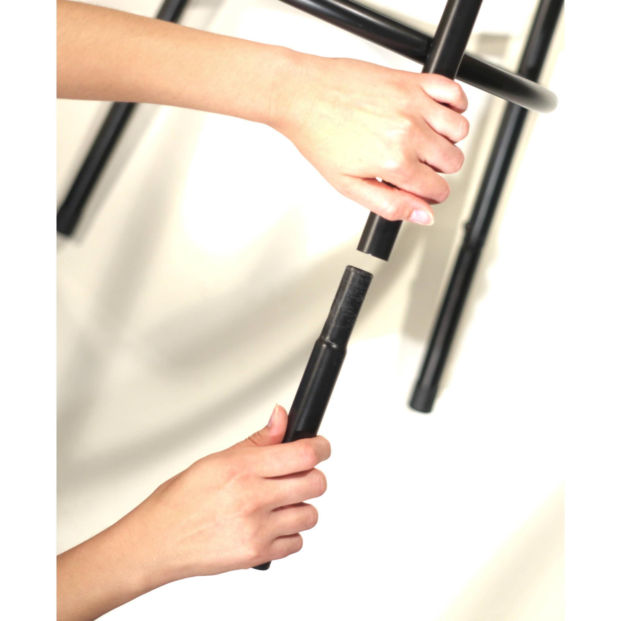 Delta Adjustable Metal Barstools 3 Piece Set Black Walmart