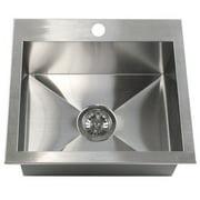eModern Decor 19'' L x 17'' W Single Bowl Kitchen Sink