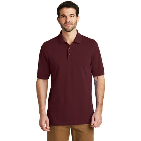 Port Authority 174 EZCotton 153 Polo. K8000-Maroon-S