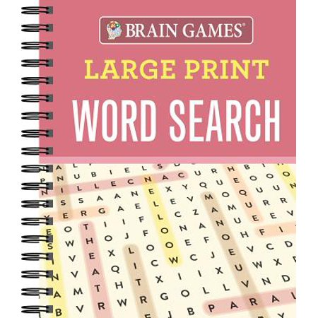Brain Games Large Print Word Search - Word Search Games Halloween