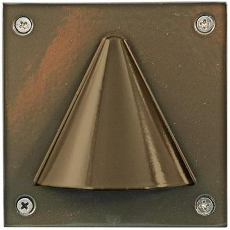 Dabmar Lighting LV607-BZ Cast Aluminum Recessed Brick, Step & Wall Light, Bronze - 3.88 x 3.88 x 4.13 in. - image 1 de 1
