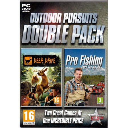 Set of 2 Outdoor/Hunting PC Games - Deer Drive and Pro Fishing: Catch the Big (Best Computer Driving Games)