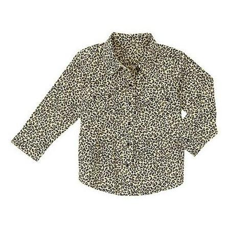 578263962 Wrangler - Wrangler Baby Girl Long Sleeve Leopard Print Western Shirt -  Walmart.com