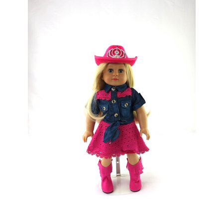 Pink Cowgirl 4 PC Outfit | 18 inch American Girl Doll Clothes for $<!---->