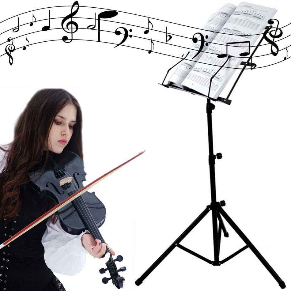 COOCHEER Adjustable Folding Music Stand Metal SHeet Tripod Holder With Carrying Bag GlSTE by