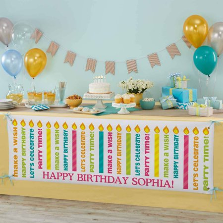 Personalized Light The Candles Birthday Banner