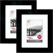 Better Homes & Gardens 8x10 Inch Wide Picture Frame, Black, Set of 2