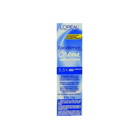 Loreal Excellence 100 Resustant Gray Coverage Gray Med Mahogany