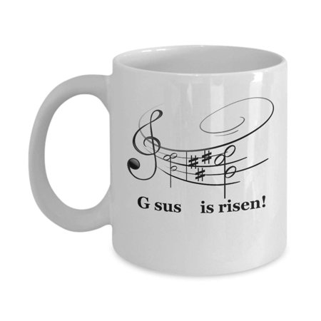 Gsus Is Risen Cool Pun Music Notes Coffee & Tea Gift Mug Cup For Christian Musicians](Coffee Halloween Puns)