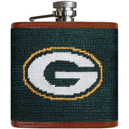 Green Bay Packers Needlepoint Flask - No Size