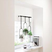 Triflora Hanging Planter White with Black Frame