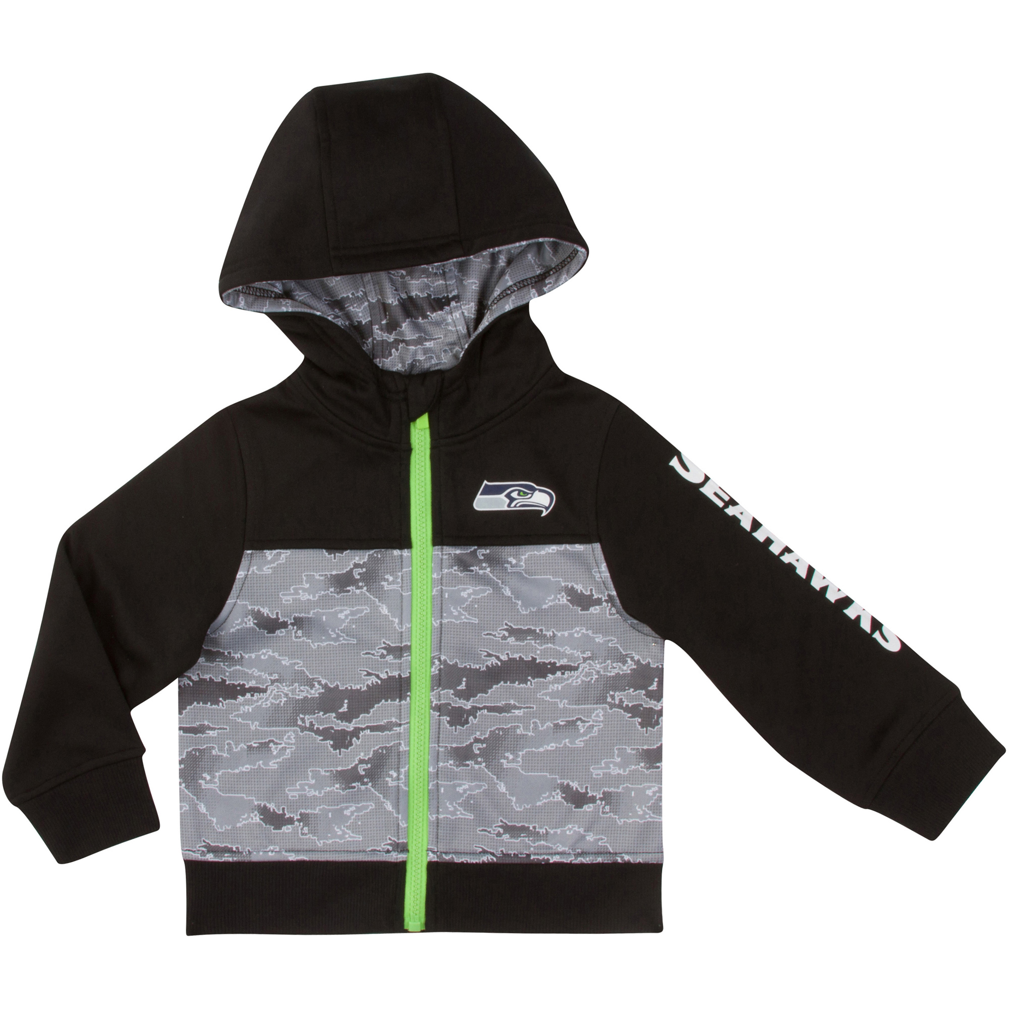 Toddler Gerber Black/Gray Seattle Seahawks Team Full-Zip Hoodie