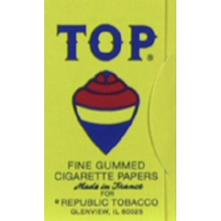 24pc TOP Fine Gum Single Wide Rolling Papers Display