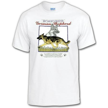 My Best Friend Dog T-Shirt: German Shepherd-Adult