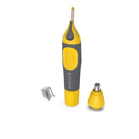 Remington Virtually Indestructible Nose, Ear & Brow Trimmer, Yellow,