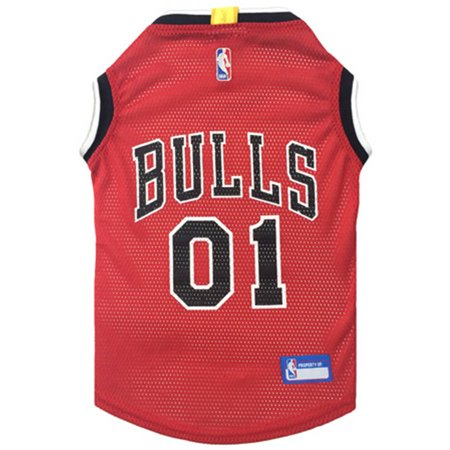 Pets First NBA Chicago Bulls Mesh Basketball Dog Jersey, Available in Various Sizes Chicago Bulls Basketball Jersey