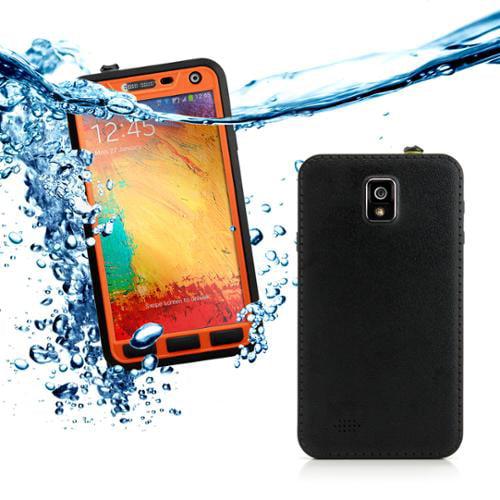 GEARONIC Durable Waterproof Shockproof Snow DirtProof Case Cover for Samsung GALAXY Note 3 III N9000 - Orange