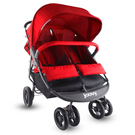 Joovy ScooterX2 Twin Stroller Double Stroller — Red
