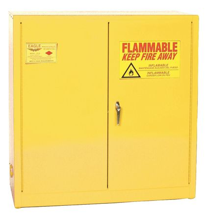 Paints and Inks Cabinet, 40 gal., Yellow EAGLE YPI3010