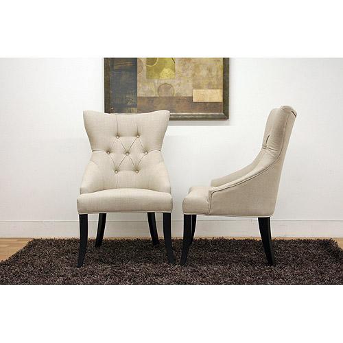 Baxton Studio Daphne Linen Upholstered Modern Dining Chair, Set of 2, Neutral Linen