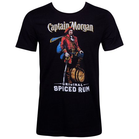 Captain Morgan Spiced Rum Black Tee Shirt (Captain Morgan Rum Best Price)