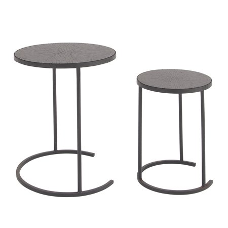 Urban Designs Milano Round Mosaic Nested Accent Tables - Set of 2